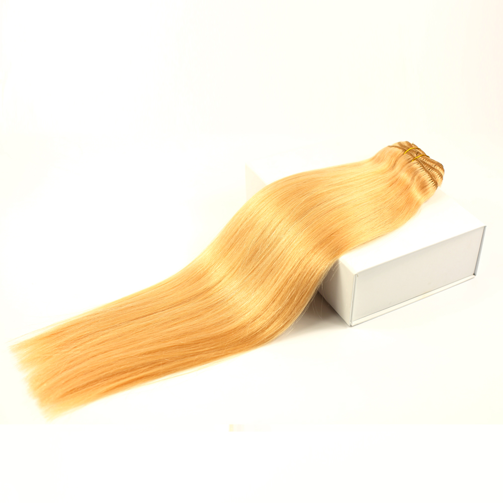 Clip in hair extensions gold long hair extensions soft and silk straight YL357