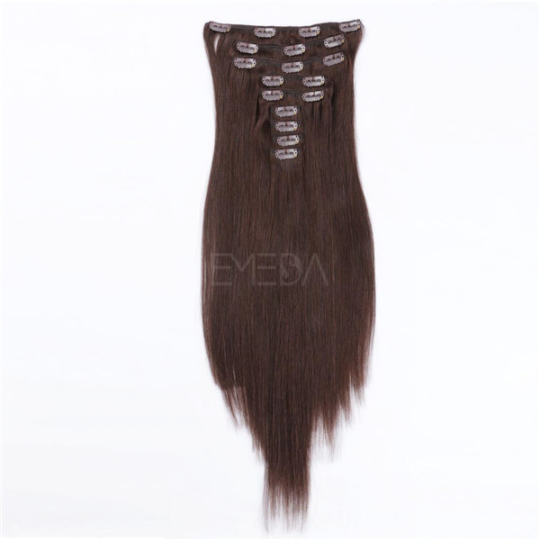 Best clip in human hair extensions Indian hairs XS057
