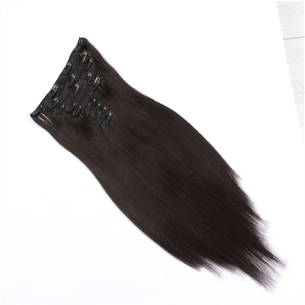 Clip in Human Hair Extensions Color Black Extensions Full   Head Use  YL378