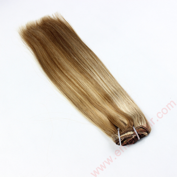 Wholesale Human Hair Clip Extension Remy Piano Color Hot Sale 24inch Hair Extension LM363