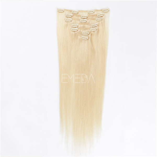 Blonde Hair Extension Made In China Clip Manufacturers Thick End Clip On Hair Extension LM461