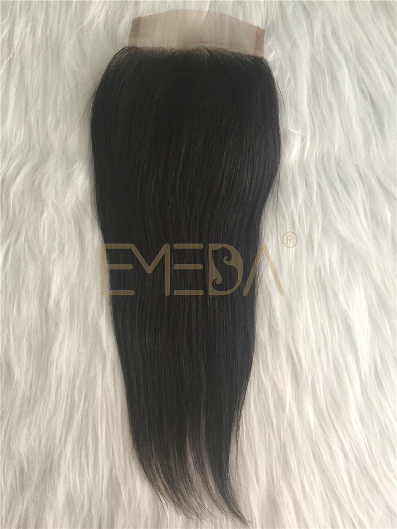 Lace closure Natural Hairline Brazilian Lace Closure With Hair Bundles YL252
