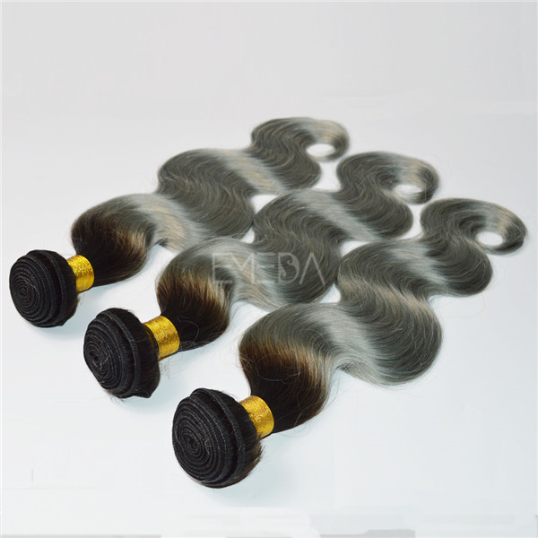 Ombre hair wefts silver hair extensions colored hair weave YL126