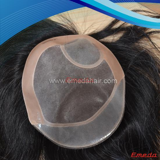 transparent pu toupee