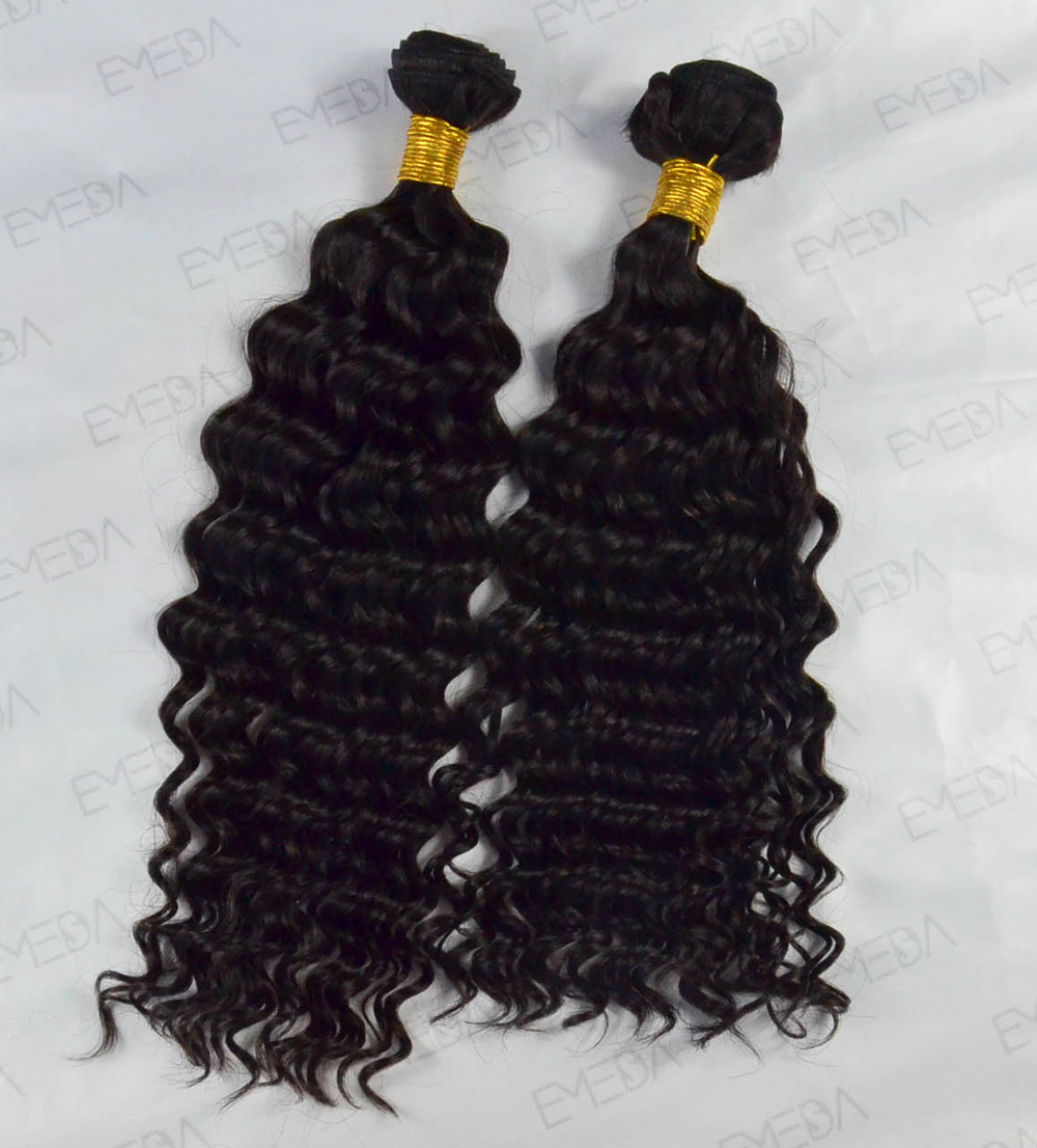 Indian Remy virgin hair weft hair smooth human hair deep wave YL478