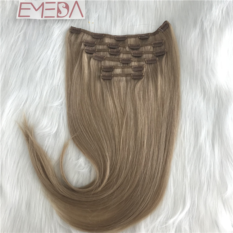 Best quality China double drawn clip in hair extension factory YJ287