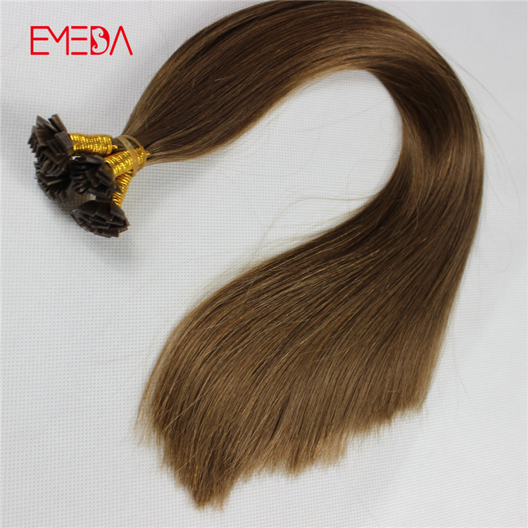 Double drawn keretin flat tip 1g pre bonded hair ...</>