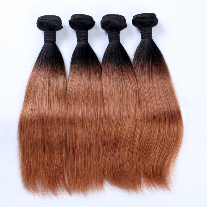 EMEDA Malaysian Hair extensions Straight human hair weaves HW044