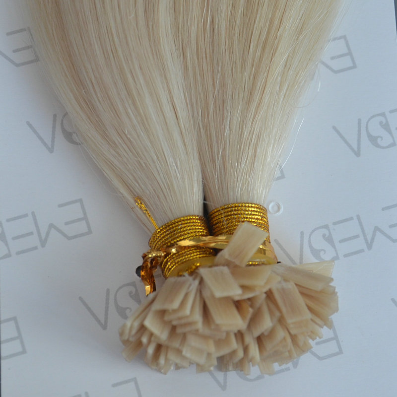 Pre Bonded Hair Extensions 8-30inch Flat Tip Blonde Hair Extensions    LM101
