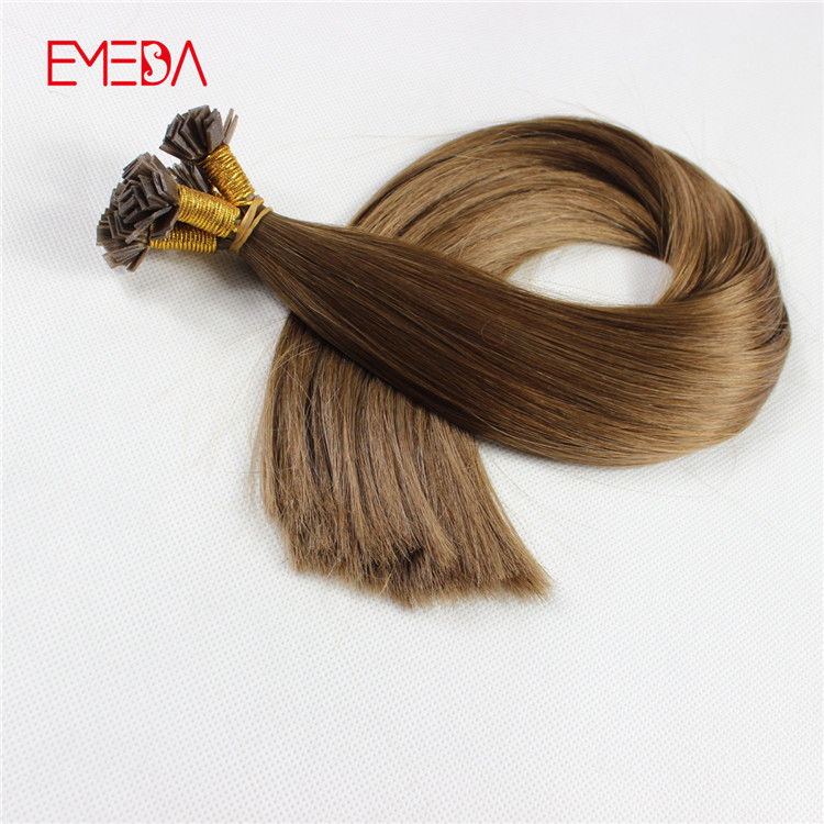 Double drawn keretin flat tip 1g pre bonded hair extensions made in China remy hair factory YJ314