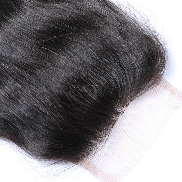 4*4 Lace Closure Brazilian Hair Free Part Hair Bundles     LM065