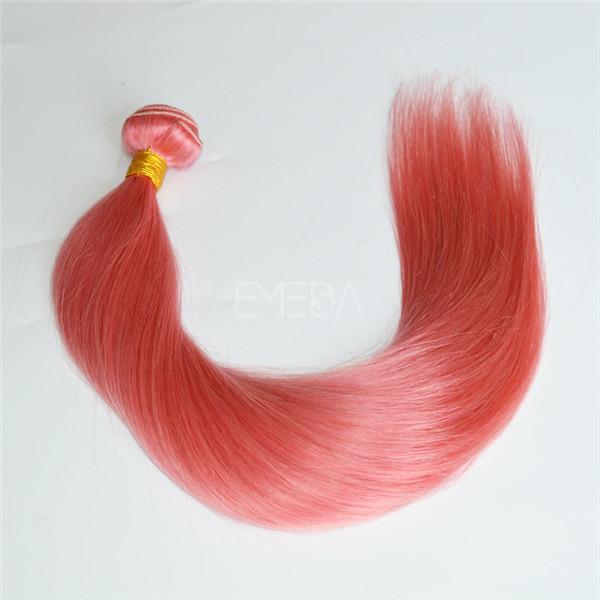 Pink color Brazilian hair bundles LJ140 - Emeda hair