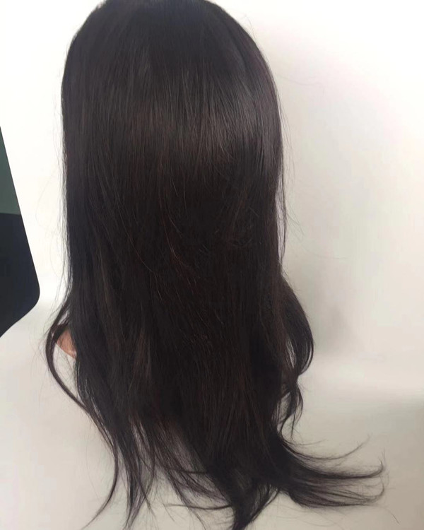 Silk base full lace wig in stock natural color human  hair YL285