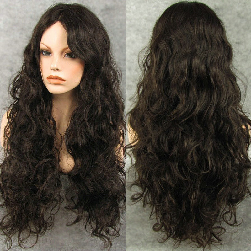 Peruvian luxury natural wavy remy hair wig DL0006