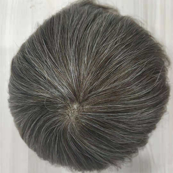 Human Hair Toupee For Men Full Lace Swiss Best Lace Durable Soft Mens Wig   LM458