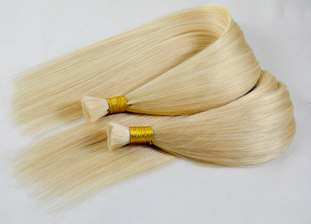 Cheap hair bundles raw human hair color 613 blond color YL054
