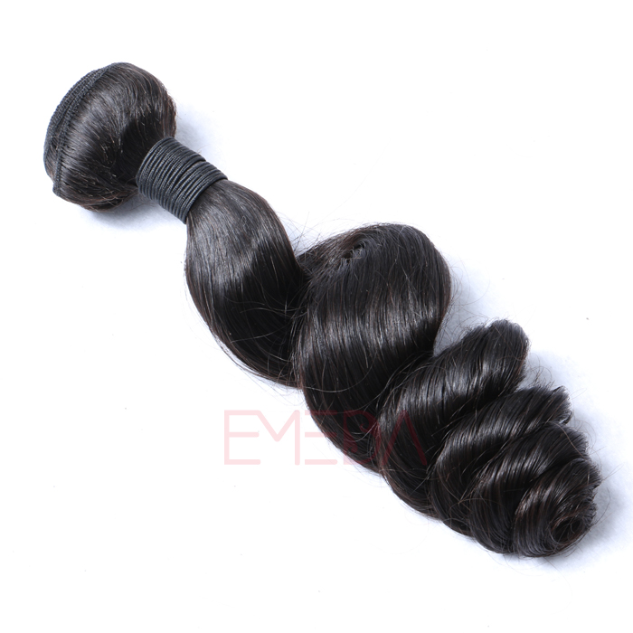 EMEDA Loose wave human hair weft Brazilian Virgin Hair extension HW057