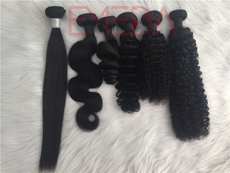 Human hair  factory wholesale best  grade cheap Loose wave hair bundles YL249