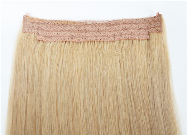 Premium gift Flip in halo human hair extensions sale WK212