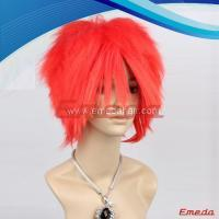 red cosplay wig for men