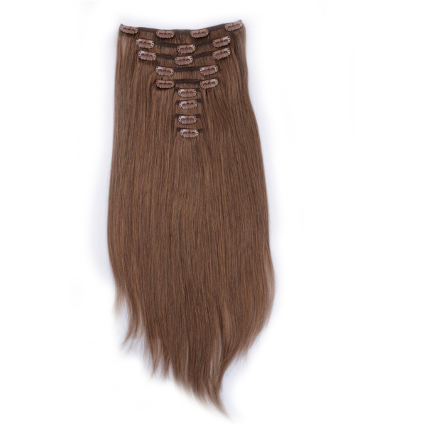 High Quality clip in hair extensions 100 human hair YL059