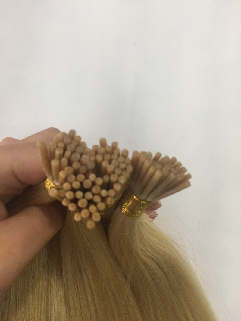 Cheap Human Hair Online Virgin  613 Blonde Hair Weave I Tip Hair Extensions YL175