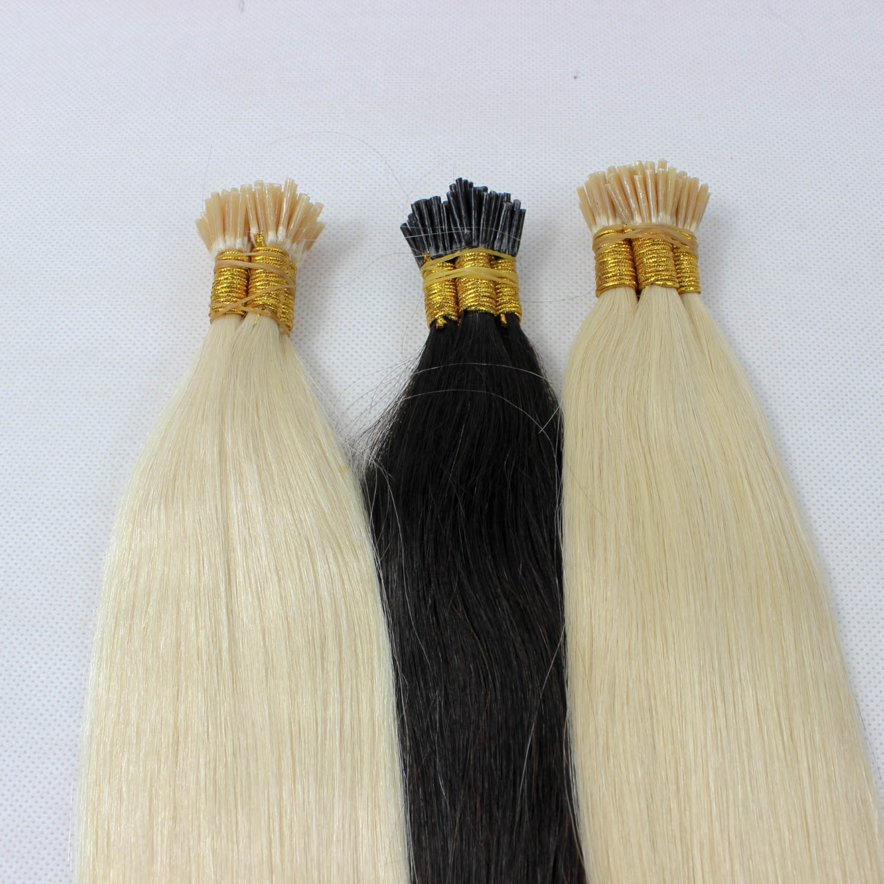 I-tip hair extension,curly i tip hair,russian i tip hair double drawn hn351