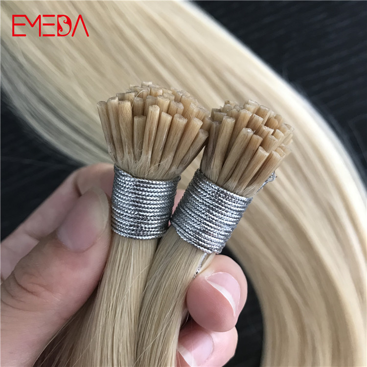 mini I tip seamless hair extensions china keratin human hair extension suppliers factory YJ295