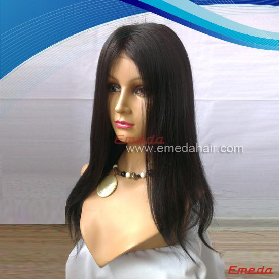 silky straight glueless wig