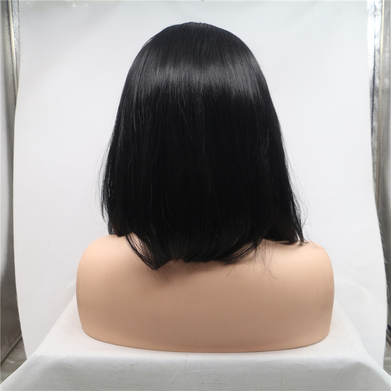 Glueless Wig with Elastic Band and Comb Bob Style Wig Hair Supplier WK183