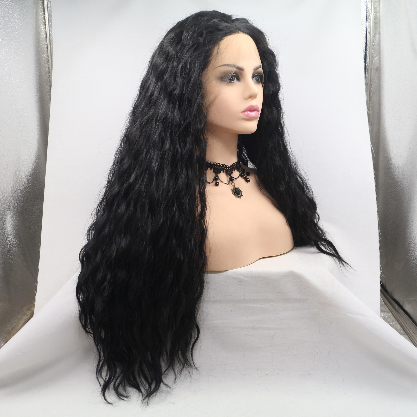 28 inch long length Women wig Slight Wave Heavy density WK228