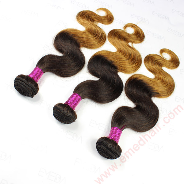 high quality virgin brazilian hair two toned color body wave