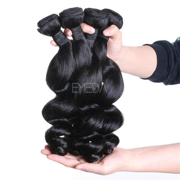 Virgin unprocessed Malaysian human hair loose wave weft in Dubai zj0012