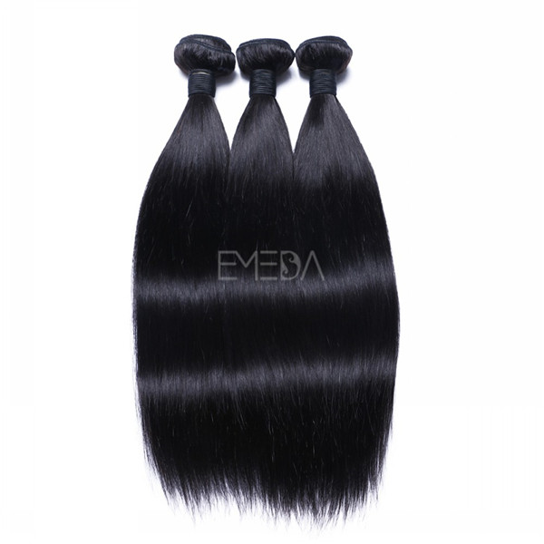 Stock virgin cuticle Peruvian human hair straight hair weaving, remy hair weft zj0006