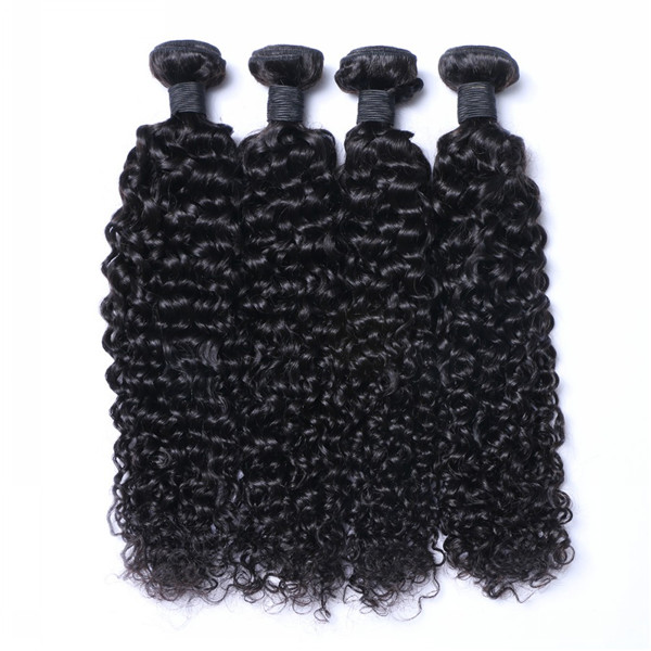 Premium gift natural color curly Indian hair extensions for black women YJ212