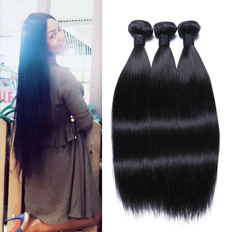 Indian Origin Natural Black Color Hair Weave Dl0003 Emeda Hair