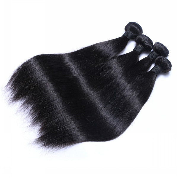 Unprocessed Virgin Hair Indian Silky Straight Human Hair Weave Hair Weft  LM183