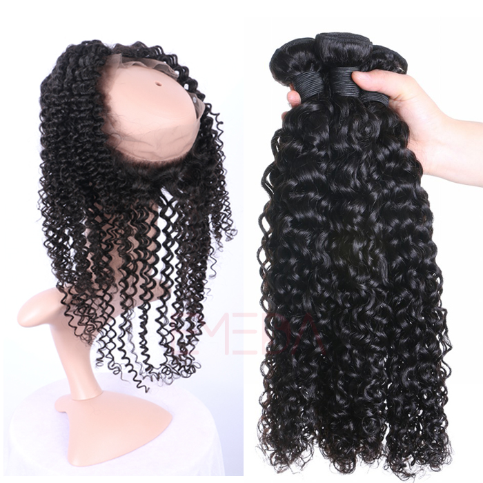 EMEDA 100% Indian Virgin hair Afro kinky curly hair bundles hair extensions HW049