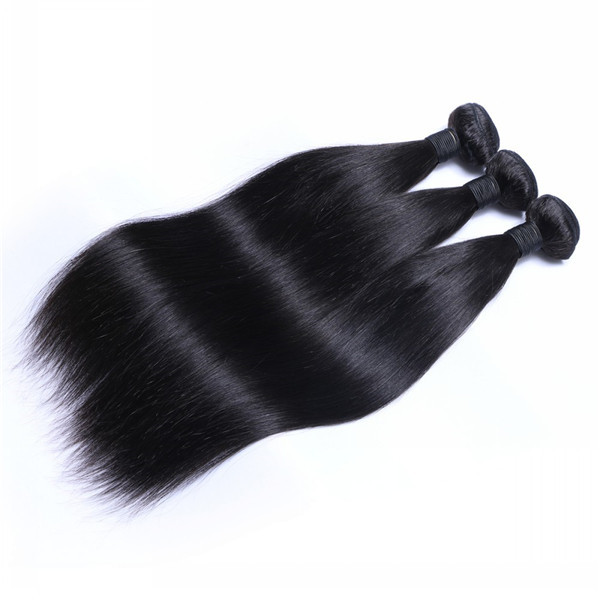 Wholesale Raw Indian Straight Virgin Human Hair Bundles Factory Price Hair Weft   LM191