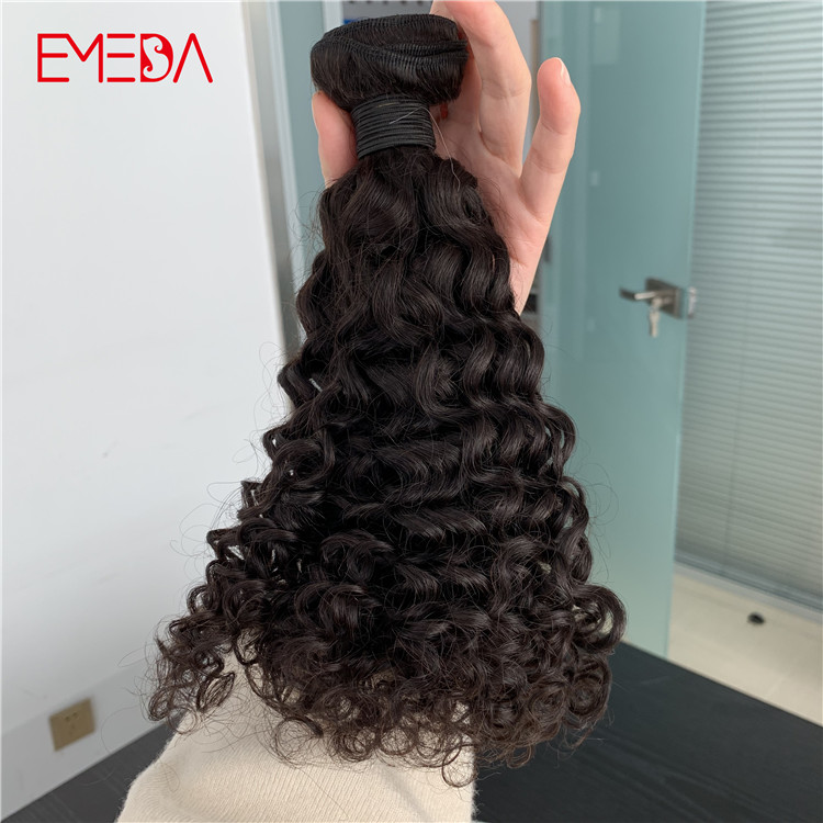 Best raw unprocessed virgin Indian remy human hair weft deep curly YJ313