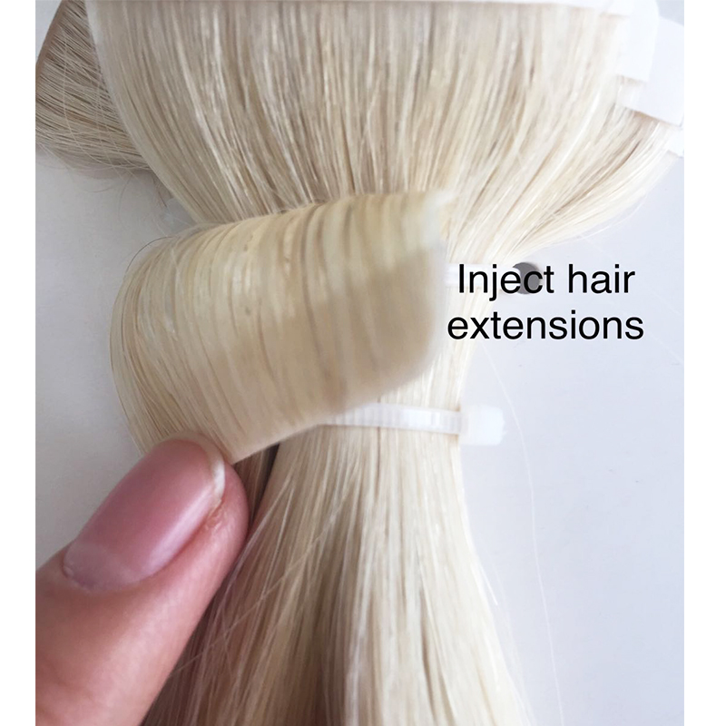 Raw human hair vendors inject pu hair extensions tapes hair  YL328