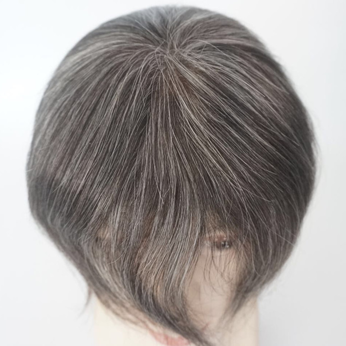Man Toupee large stock black color and mix grey hair instock warmest welcome visit us JF320