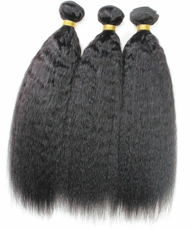 Wholesale Kinky Straight hair 100 human virgin hair bundles weft YL183