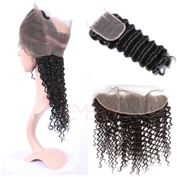 EMEDA Brazilian hair Bundles deep wave human hair weave HW073