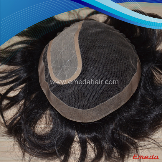 Lace base toupee
