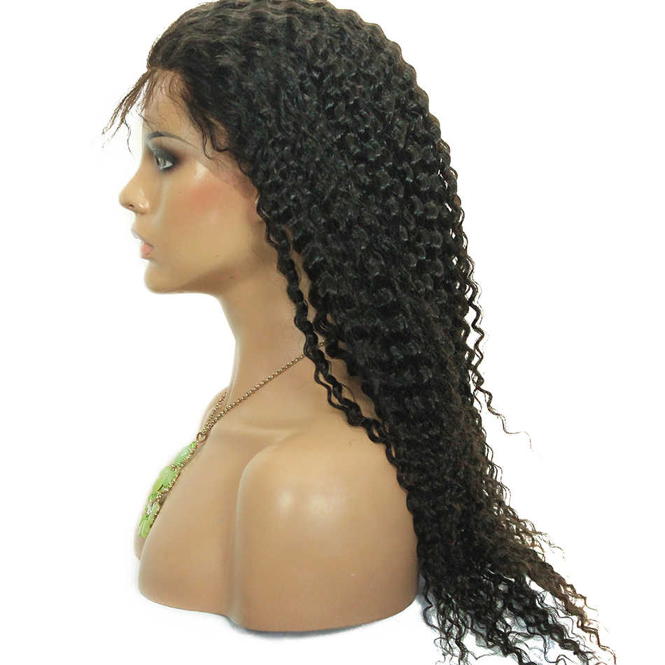 Hair wig 13*4 front lace wig malaysian remy hair curl wig HN130