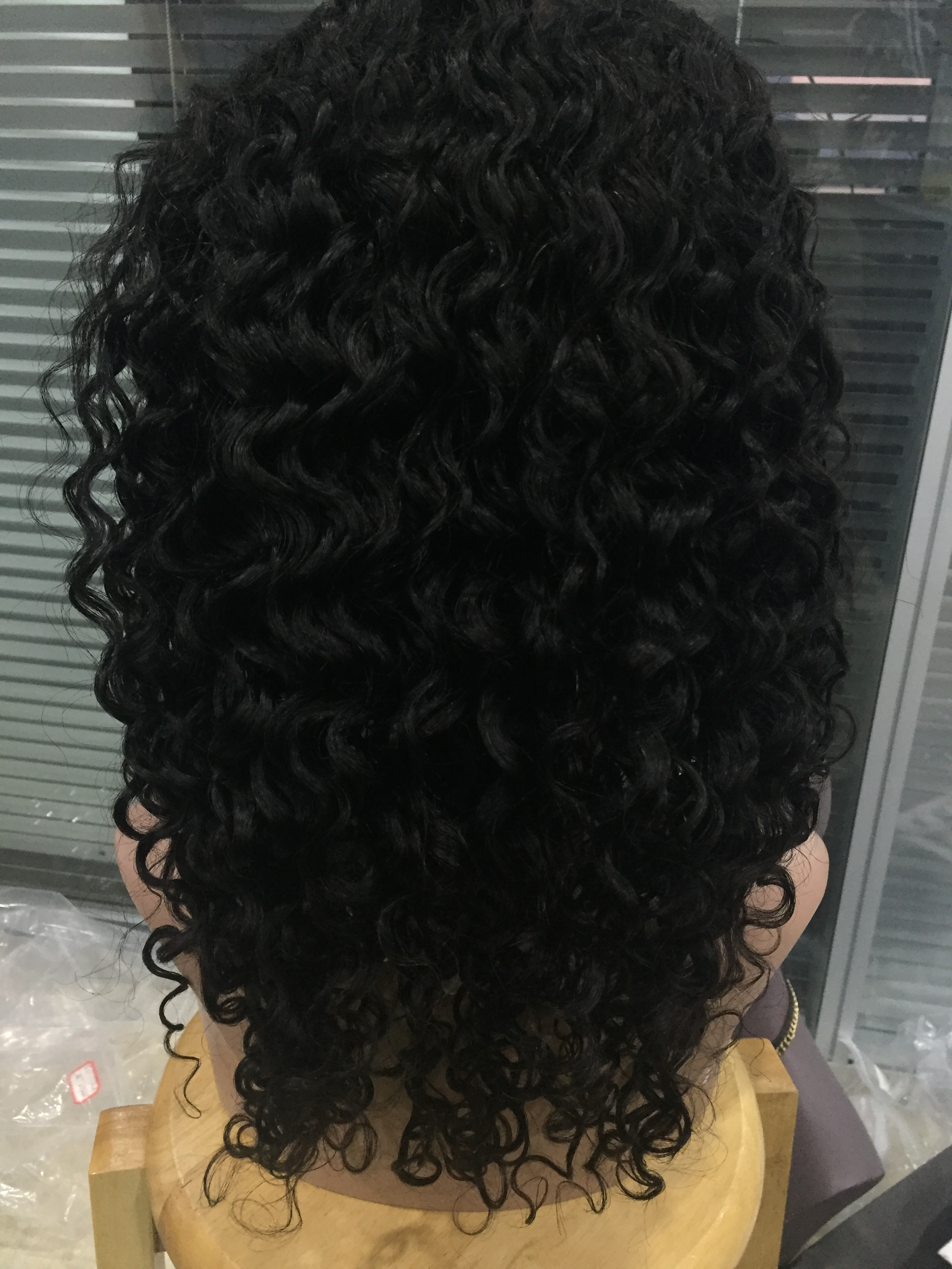 Lace front wigs deep curl 18inch virgin hair wigs YL165
