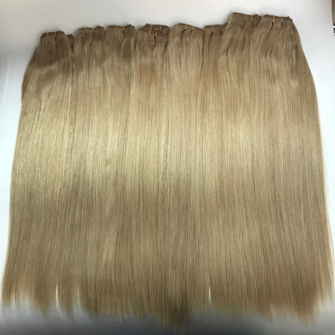 50 grams Clip in Hair Mix Color Latte Blonde Popular in Netherland WK221