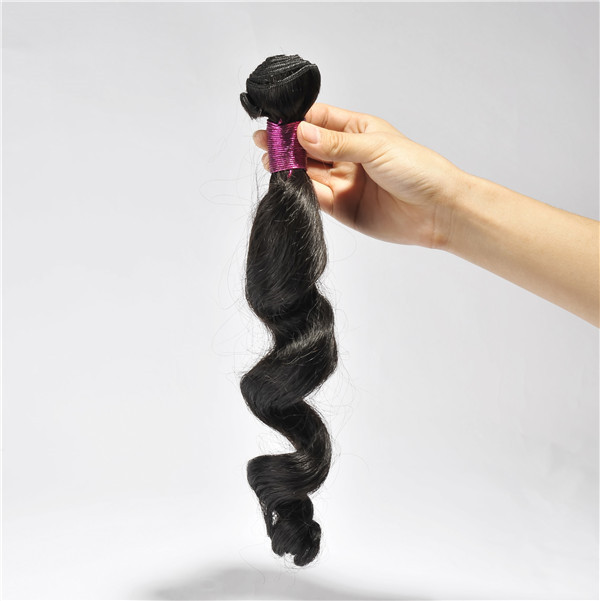 Loose wave human hair bundles with 1 # color EMEDA brand YL129