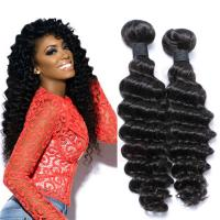 EMEDA Virgin  Malaysian Hair Deep Curly Natural human Hair Weave Bundles HW036